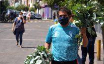Vendedor de eucalipto utilizado tradicionalmente para tratar afecciones respiratorias en Lima, Perú. Foto: OIT7Cordova